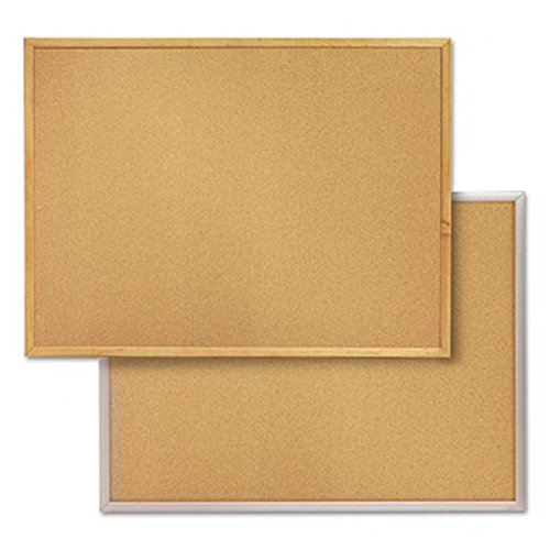 Quartet-Cork-Bulletin-Board-4-x-3-Feet-Corkboard-Oak-Finish-Frame-304-0