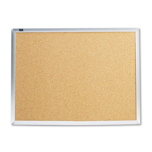 Quartet-Cork-Bulletin-Boards-Aluminum-Finish-Frame-0