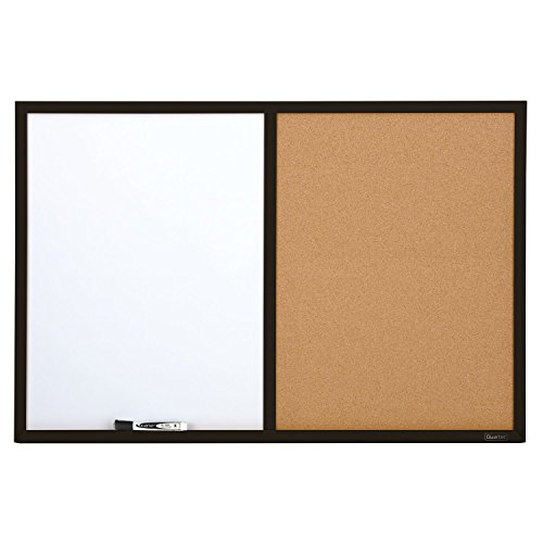 Quartet-Dry-Erase-Board-Cork-Board-Combination-2-x-3-Feet-Whiteboard-Corkboard-Black-Frame-95223B-0