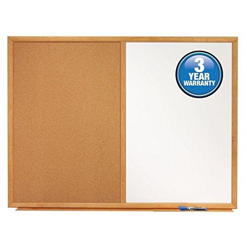 Quartet-Dry-Erase-Board-Cork-Board-Combination-3-x-2-Oak-Finish-Frame-S553-0-0