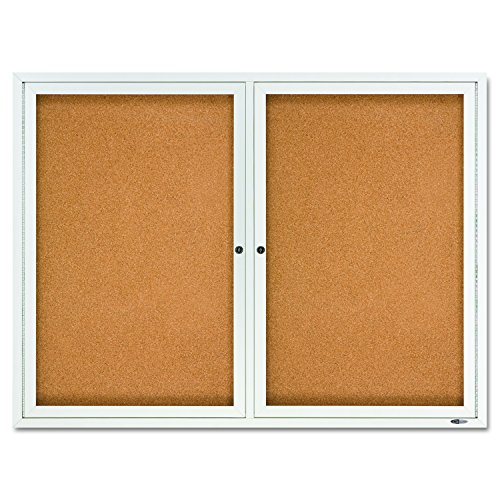 Quartet-Enclosed-Cork-Indoor-Bulletin-Board-4-x-3-Feet-Aluminum-Frame-2364-0-0