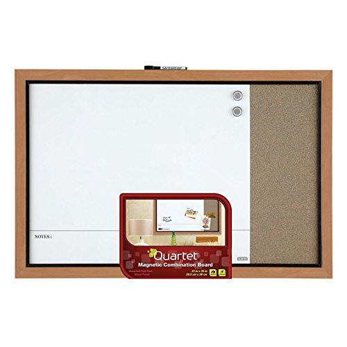 Quartet-Home-Decor-Magnetic-Combination-Board-23-x-35-Dry-Erase-Cork-Two-Tone-Frame-48117A-0