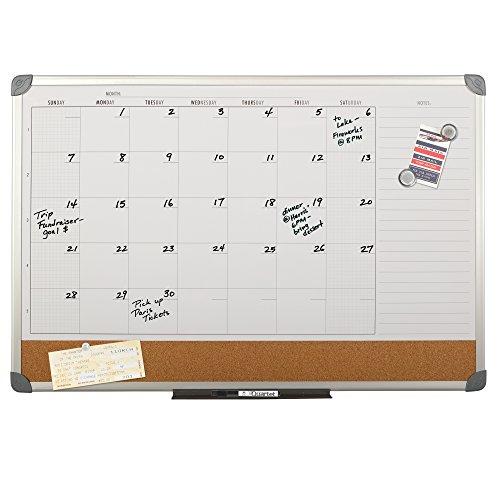 Quartet Magnetic Calendar Combination Board Whiteboard