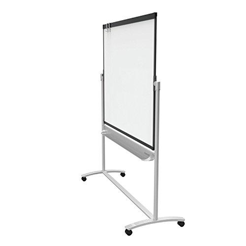 Quartet-Mobile-Easel-Prestige-2-Reversible-Magnetic-WhiteboardFlipchart-4-x-3-Graphite-Frame-ECM43P2-0
