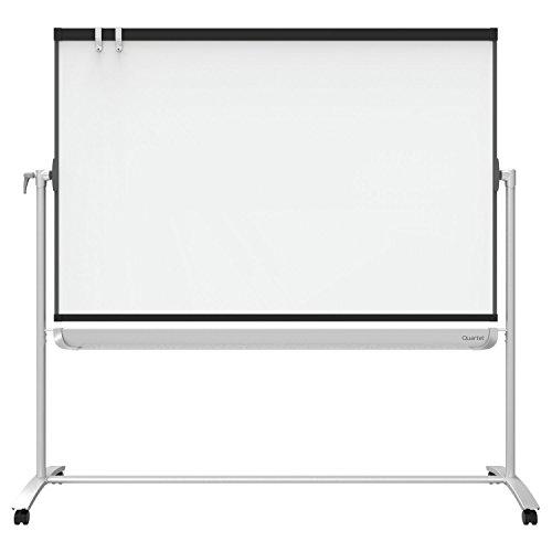 Quartet-Presentation-Easel-6-x-4-Mobile-Reversible-Magnetic-Whiteboard-Flipchart-Prestige-2-Mobile-Graphite-Frame-ECM64P2-0