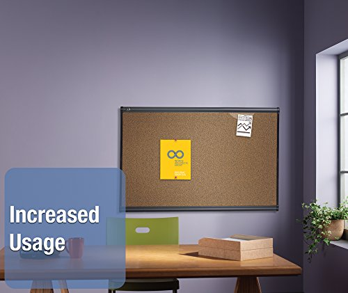 Quartet-Prestige-Colored-Cork-Bulletin-Board-3-x-2-Feet-Graphite-Finish-Frame-B243G-0-0