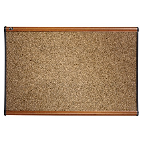 Quartet-Prestige-Colored-Cork-Bulletin-Board-3-x-2-Feet-Light-Cherry-Finish-Frame-One-Board-per-Order-B243LC-0