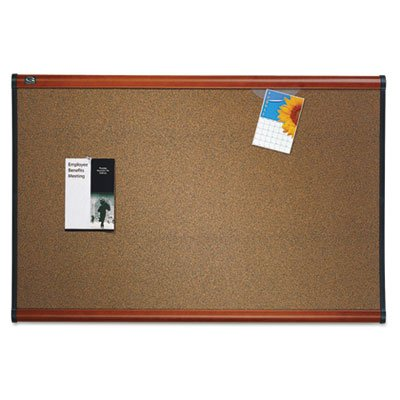 Quartet-Prestige-Colored-Cork-Bulletin-Board-6-x-4-Feet-0
