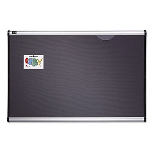 Quartet-Prestige-Plus-Diamond-Mesh-Fabric-Bulletin-Board-3-x-4-Feet-Aluminum-Frame-B444A-0