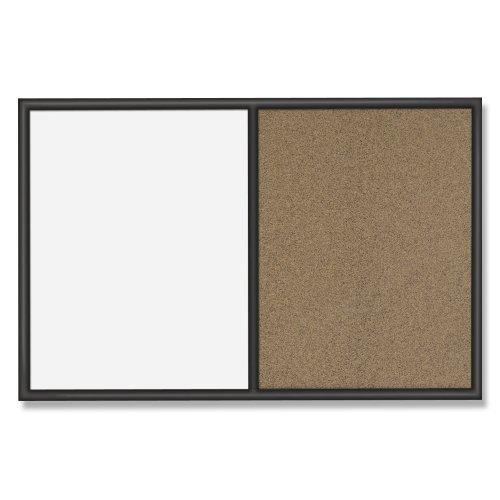 Quartet-Whiteboard-and-Colored-Cork-Combination-Board-3-x-4-Feet-Black-Frame-S564-0