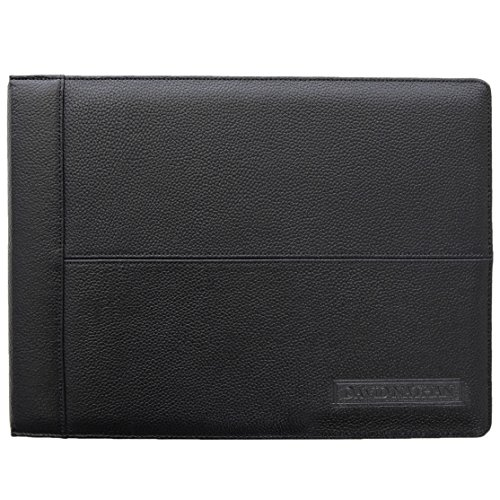 REAL-Leather-7-Ring-Business-Check-Binder-with-Zipper-for-3-on-a-Page-Checks-By-David-Nathan-REAL-LEATHER-HIDE-NOT-BONDED-0-0