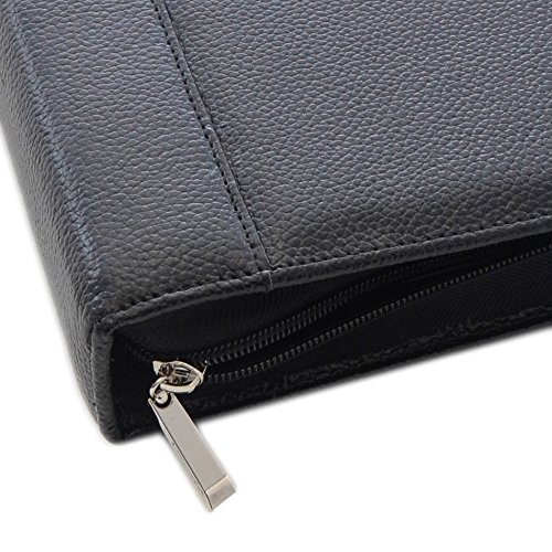 REAL-Leather-7-Ring-Business-Check-Binder-with-Zipper-for-3-on-a-Page-Checks-By-David-Nathan-REAL-LEATHER-HIDE-NOT-BONDED-0-1