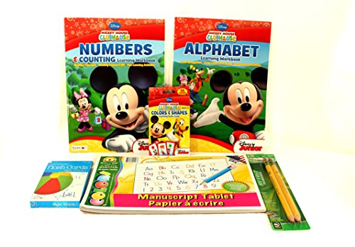Ready-for-School-Kindergarten-Preschool-Bundle-Six-Items-Alphabet-Workbook-Numbers-Workbook-Writing-Tablet-2pk-Ticonderoga-Beginner-PencilsColorshape-Flash-CardsSight-Words-Flash-Cards-0