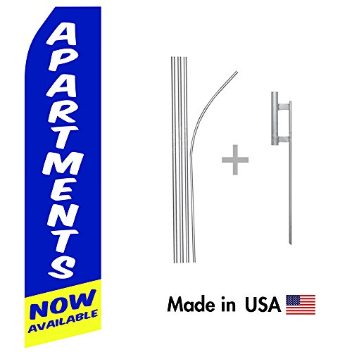 Real-Estate-Swooper-Flags-16ft-Aluminum-Advertising-Swooper-Flag-Kit-with-Hardware-0