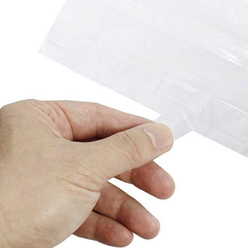 Rel-Co-400-Piece-Multi-Pack-of-Clear-Poly-Bags-With-Space-Saving-Vent-Holes-Self-Sealing-Suffocation-Warning-Strong-15-mil-4-sizes-100-each-6×9-8×10-9×12-11×14-Packaging-Bags-0-1