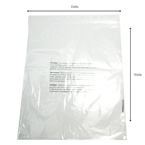 Resealable-Clear-Poly-Bags-w-Suffocation-Warning-8-x-10-2Mil-Pack-of-100-500-or-1000-Bags-0