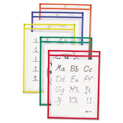 Reusable-Dry-Erase-Pockets-9-x-12-Assorted-Primary-Colors-25Box-Sold-as-25-Each-0-0