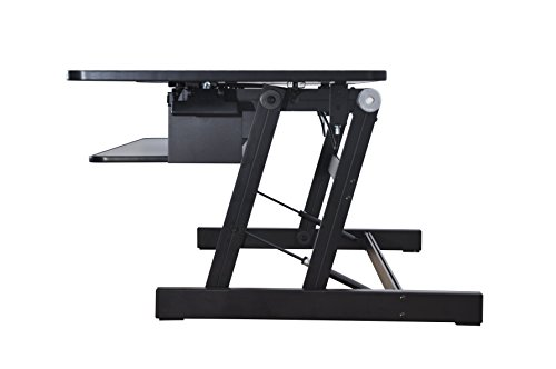 Rocelco Dadr Deluxe Height Adjustable Sit Stand Desk