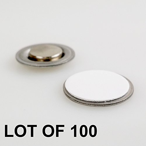 Round-Magnet-with-Adhesive-for-Buttons-Name-Tags-Lapel-Pins-LOT-OF-100-RM01-100-0
