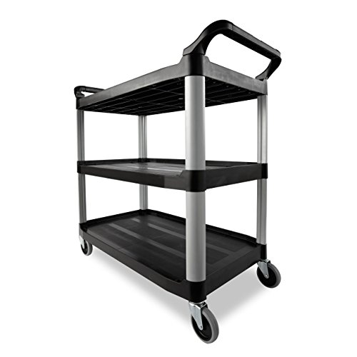 Rubbermaid-Commercial-409100-BLA-XTRA-Service-and-Utility-Cart-3-Shelf-Open-Sided-Black-0-1