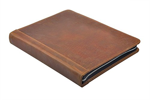 Rustic-Leather-Padfolio-with-3-Ring-Binder-for-Letter-A4-Paper-11-inch-MacBook-Air-0-0