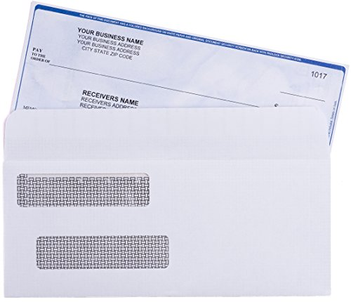SELF-SEAL-QuickBooks-Double-Window-Security-Check-Envelopes-Designed-for-Business-Checks-Laser-Checks-Security-Tinted-Self-adhesive-Peel-and-Seal-White-Size-3-58-x-8-1116-Checks-Will-Not-Move-24-LB-NO-0-0
