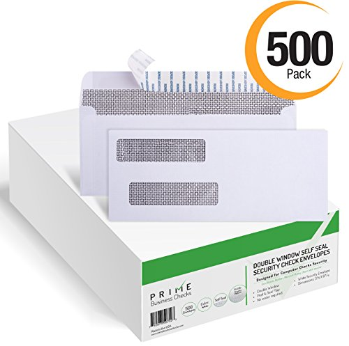 SELF-SEAL-QuickBooks-Double-Window-Security-Check-Envelopes-Designed-for-Business-Checks-Laser-Checks-Security-Tinted-Self-adhesive-Peel-and-Seal-White-Size-3-58-x-8-1116-Checks-Will-Not-Move-24-LB-NO-0