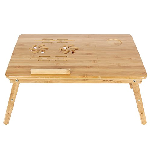 SONGMICS-Bamboo-Laptop-Desk-Adjustable-Breakfast-Serving-Bed-Tray-w-Tilting-Top-Drawer-ULLD001-0-1