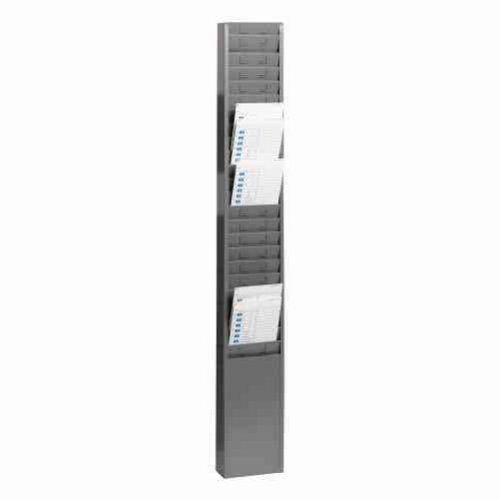 STEELMASTER-25-Pocket-Steel-Time-Card-Rack-513-x-36-x-2-Inches-Gray-270R1TCRGY-0-0