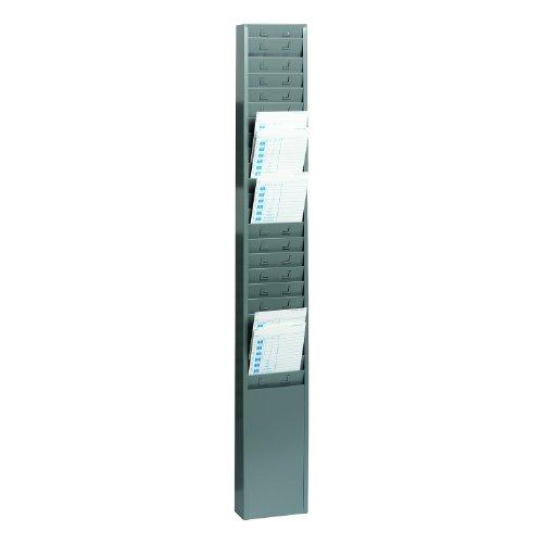 STEELMASTER-25-Pocket-Steel-Time-Card-Rack-513-x-36-x-2-Inches-Gray-270R1TCRGY-0
