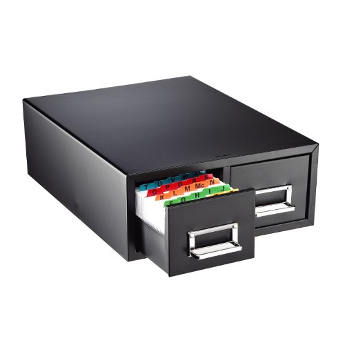 STEELMASTER-Small-Double-Card-File-Drawer-Fits-3-x-5-Cards-3000-Card-Capacity-1231-x-519-x-16-Inches-Black-263F3516DBLA-0-0