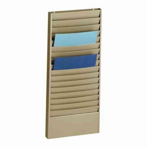 STEELMASTER-Steel-Job-Ticket-and-Display-Rack-18-Compartments-135-x-30-x-2-Inches-Beige-270171BEI-0-0