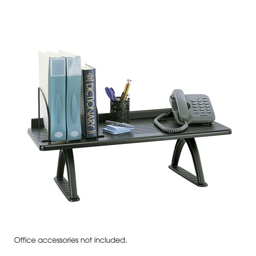Safco-Products-3602BL-Wood-Desk-Riser-30W-Black-0