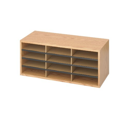 Safco-WoodCorrugated-Literature-Organizer-0