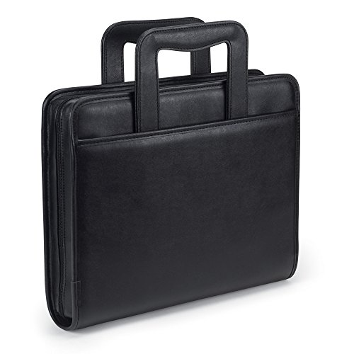 Samsill-Professional-Portfolio-with-Zippered-Closure-Case-2-Inch-Removable-Ring-Binder-Retractable-Handles-Letter-Size-Writing-Pad-Interior-101-Inch-Tablet-Sleeve-Black-0