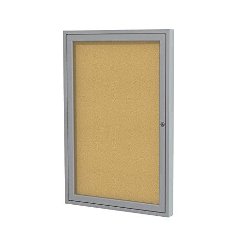 Satin-Aluminum-Frame-Enclosed-Bulletin-Board-0