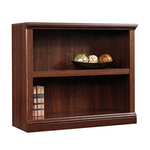 Sauder-2-Shelf-Bookcase-Select-Cherry-Finish-0