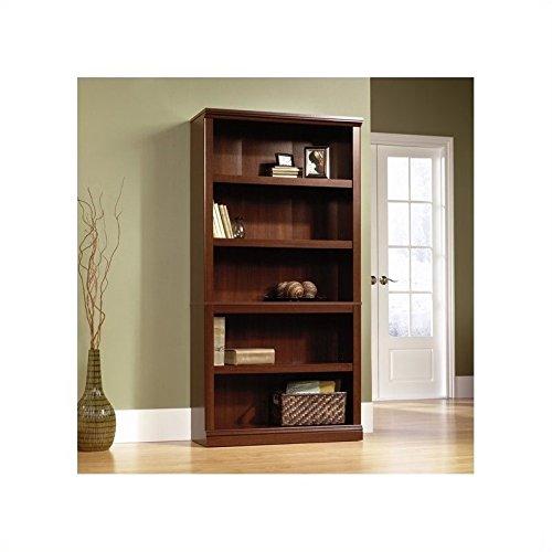 Sauder-5-Shelf-Bookcase-Select-Cherry-Finish-0