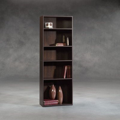 Sauder-Beginnings-5-shelf-Bookcase-Cinnamon-Cherry-0
