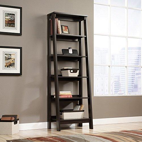 Sauder-Trestle-5-Shelf-Bookcase-Jamocha-Wood-0