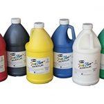 Sax-True-Flow-Medium-Bodied-Acrylic-Paint-12-Gallon-Set-of-6-Assorted-Colors-0