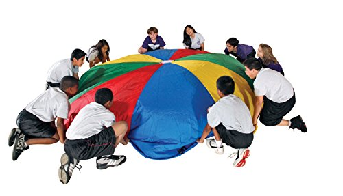 School-Smart-Durable-Nylon-Parachute-with-Carrying-Bag-12-foot-12-Handles-0