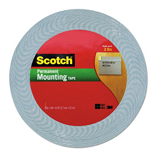 Scotch-Products-Scotch-Double-Coated-Foam-Tape-12-x-36-yards-White-Sold-As-1-Roll-The-perfect-solution-for-mounting-light-to-medium-weight-objects-to-walls-and-other-surfaces-Has-high-density-open-cel-0