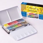 Sennelier-Watercolor-Metal-Bx-12-Half-Pan-Set-0-0