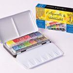 Sennelier-Watercolor-Metal-Bx-12-Half-Pan-Set-0