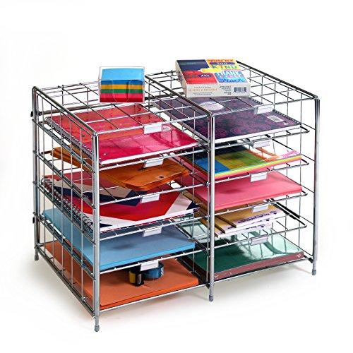 Seville-Classics-10-SlotCompartment-Steel-Wire-Literature-Rack-OrganizerMailbox-0-0