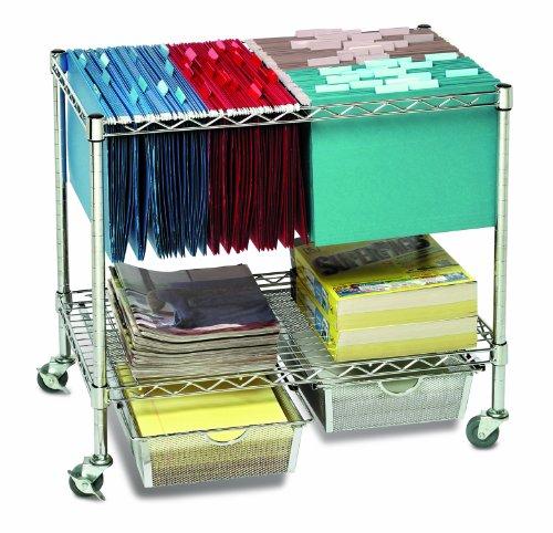 Seville Classics Heavy Duty Office Utility File Cart