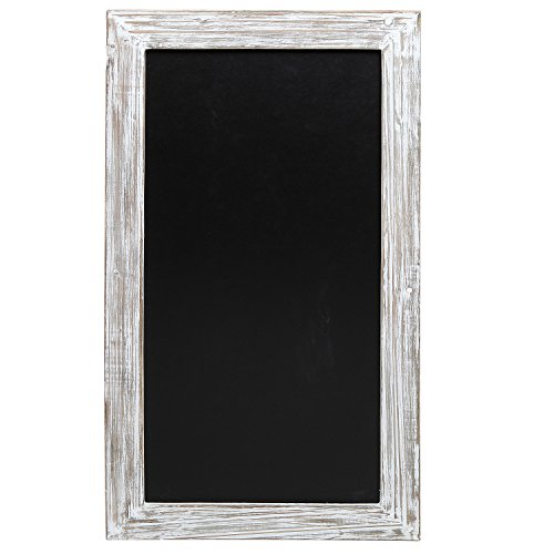 Shabby Chic Wall Mounted Distressed Wood Framed Erasable