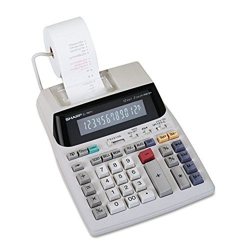 Sharp-EL-1801V-Portable-12-Digit-2-Color-Serial-Printing-Calculator-0