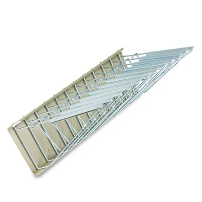 Sheet-File-Pivot-Wall-Rack-12-Hanging-Clamps-24w-x-14-34d-x-9-34h-Sand-0